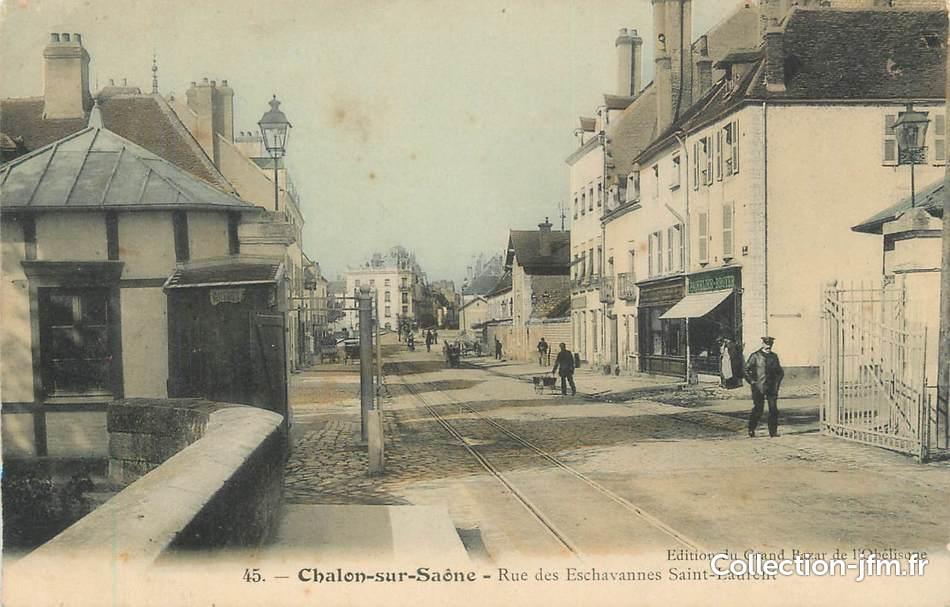 Cpa france 71 chalon sur sa ne rue des eschavannes st for Chalon sur saone 71