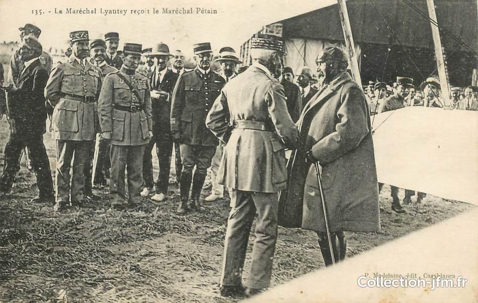 Lyautey recevant le maréchal Pétain. / Ph. DR