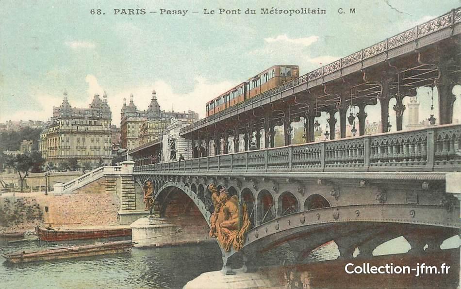Cpa France 75016 Paris Passy Le Pont Du Metro 75 Paris