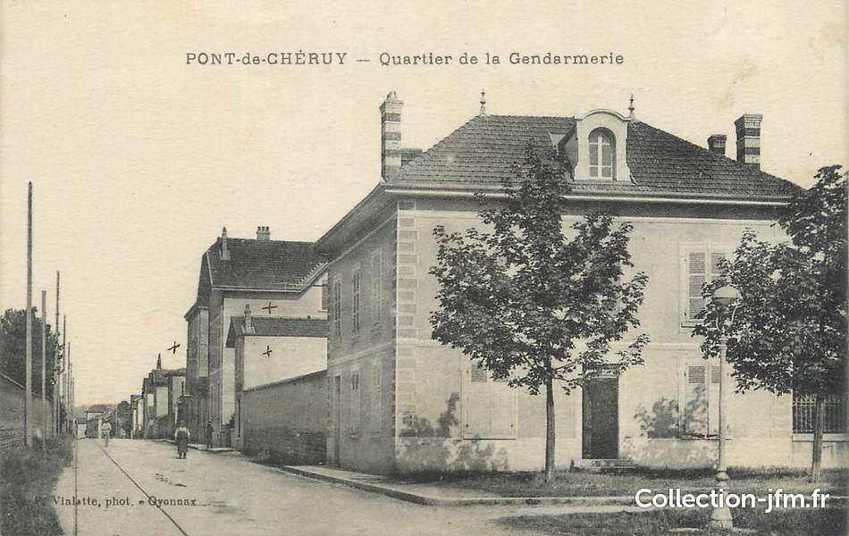 Cpa France 38 Pont De Cheruy Quartier De La Gendarmerie