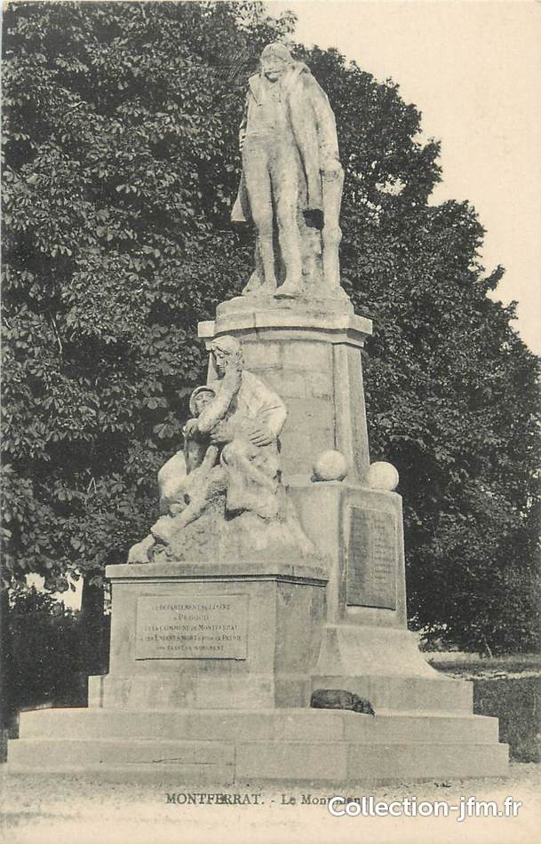 Cpa France 38 Quot Montferrat Le Monument Aux Morts Quot 38