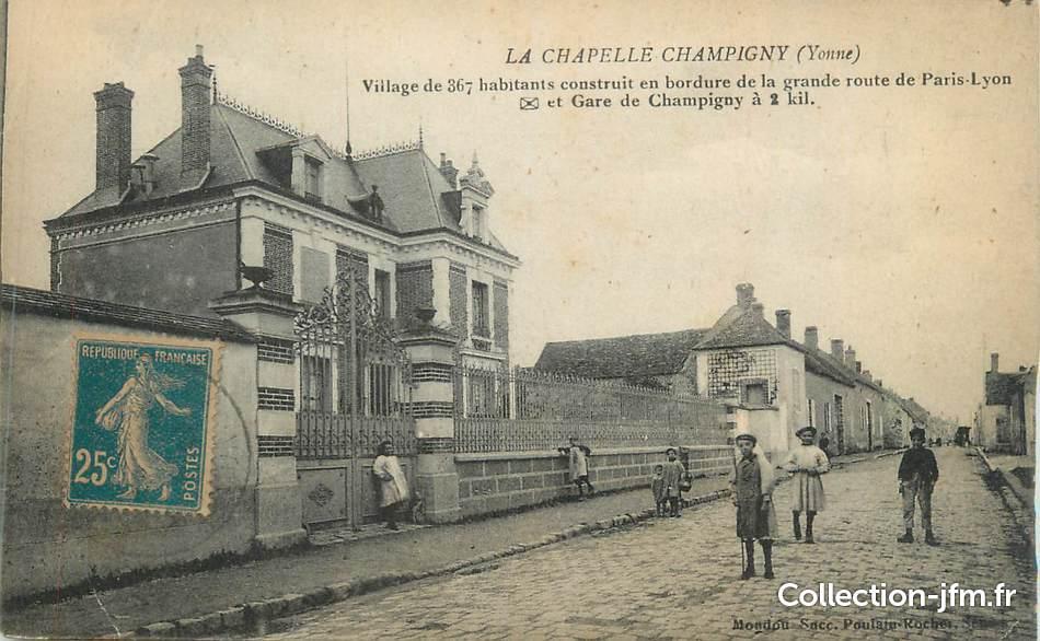 cpa france 89 la chapelle champigny 89 yonne autres communes 89 ref 167390. Black Bedroom Furniture Sets. Home Design Ideas