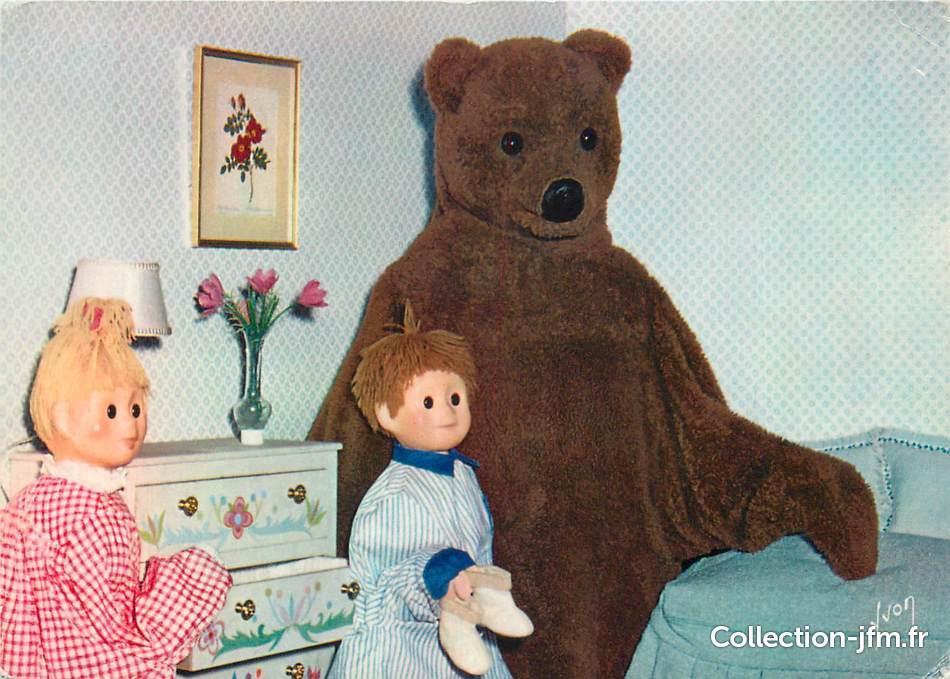 Cpsm serie tv enfant bonne nuit les petits nounours nicolas et pimprenelle au lit themes - Personnage bonne nuit les petit ...
