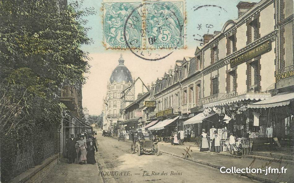 Cpa france 14 houlgate la rue des bains 14 calvados for Rue des bains