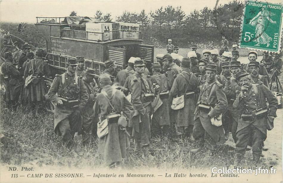 Cpa militaire france 02 camp de sissonne infanterie en for Sissonne 02