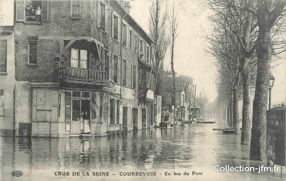 Cpa france 92 courbevoie inondations 1910 92 hauts for 92 haute seine