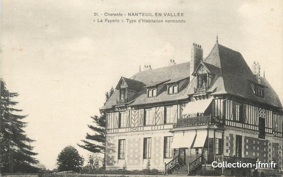Cpa france 16 nanteuil en vall e la fayolle type d for Type d habitation en france