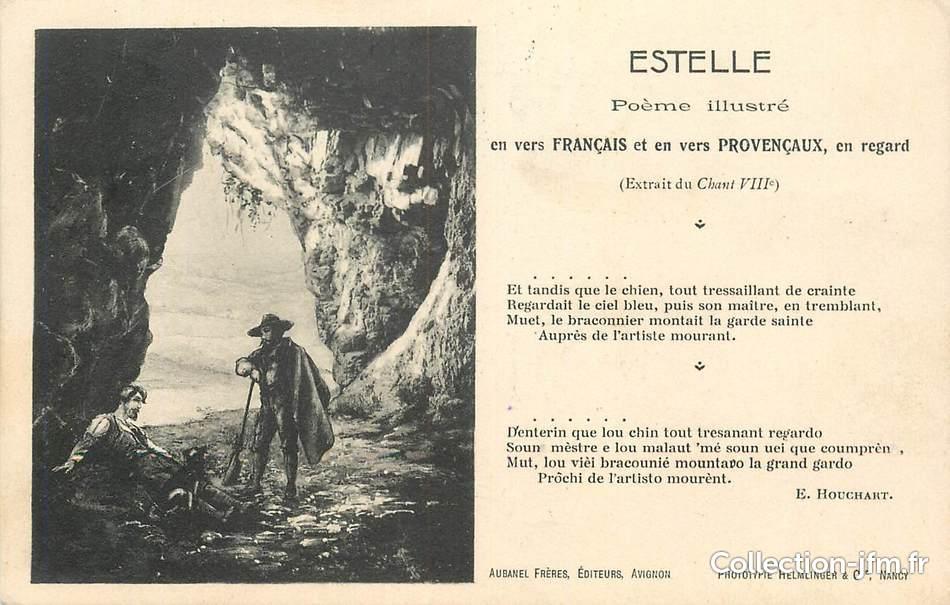 Cpa France 13 Estelle Poème Illustré 13 Bouches Du