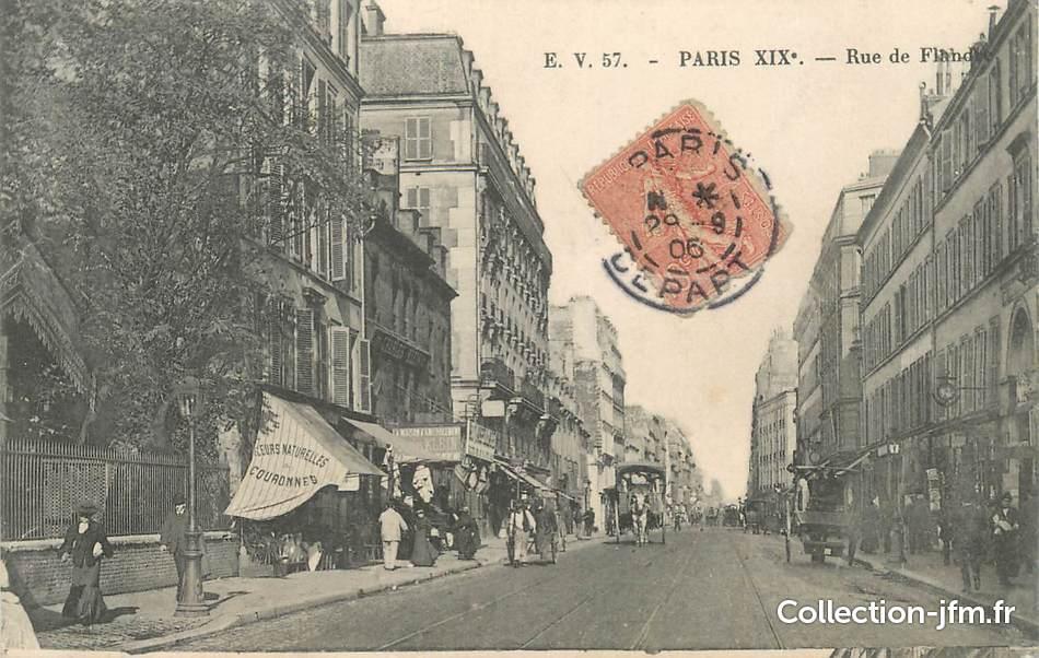cpa france 75019 paris rue de flandre 75 paris 19 eme arrondissement 75019 ref. Black Bedroom Furniture Sets. Home Design Ideas
