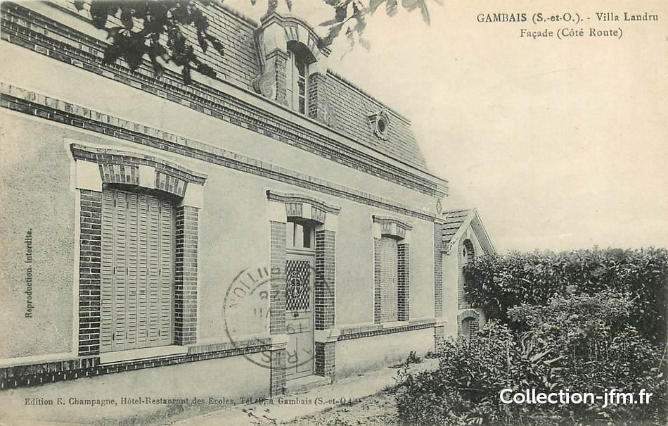 Cpa france 78 gambais villa landru 78 yvelines for 78 en france