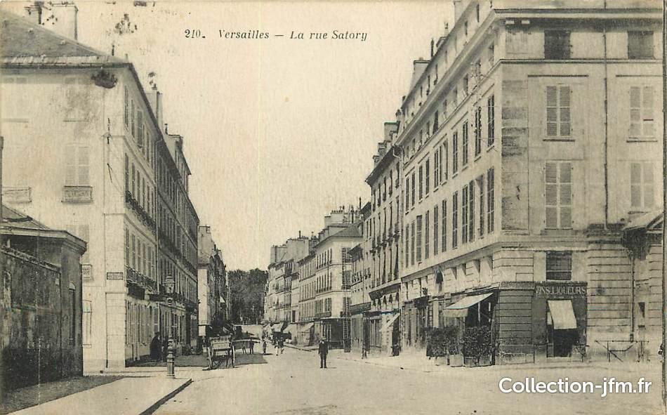 Cpa france 78 versailles la rue satory 78 yvelines for 78 en france
