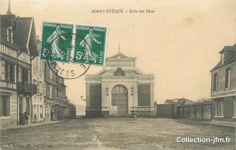 Cpa France 14 Pont L Eveque Salle Des Fetes 14 Calvados
