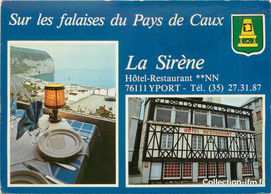 Cpsm france 76 yport l 39 h tel restaurant la sir ne 76 for Hotels yport
