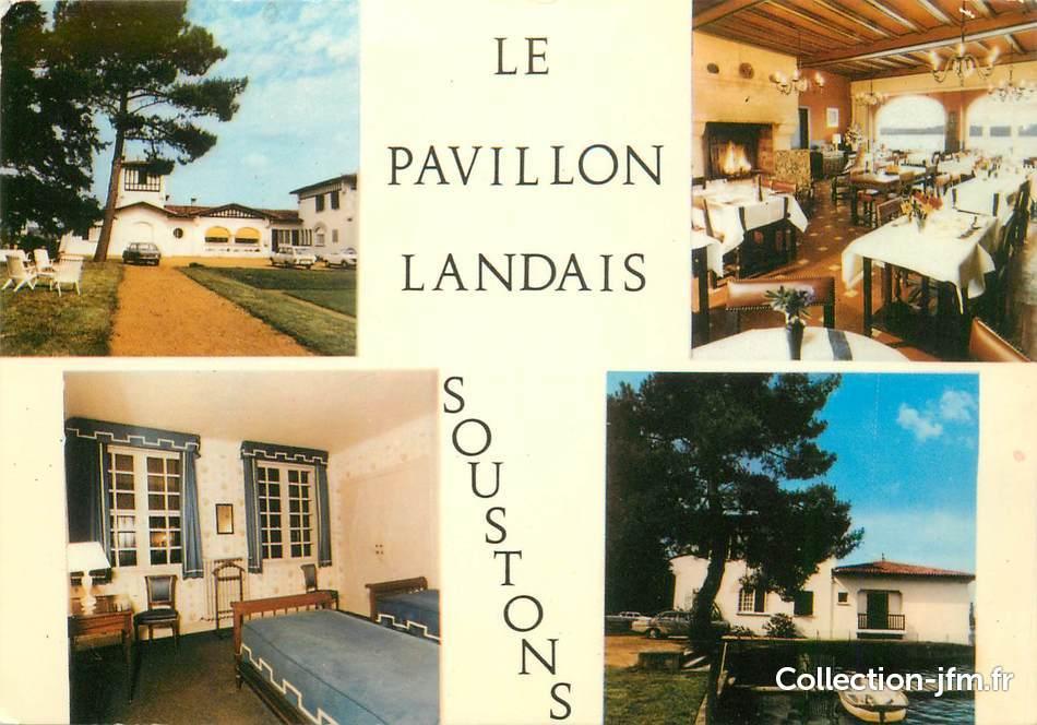 Cpsm france 40 soustons hotel restaurant pavillon for Restaurant soustons