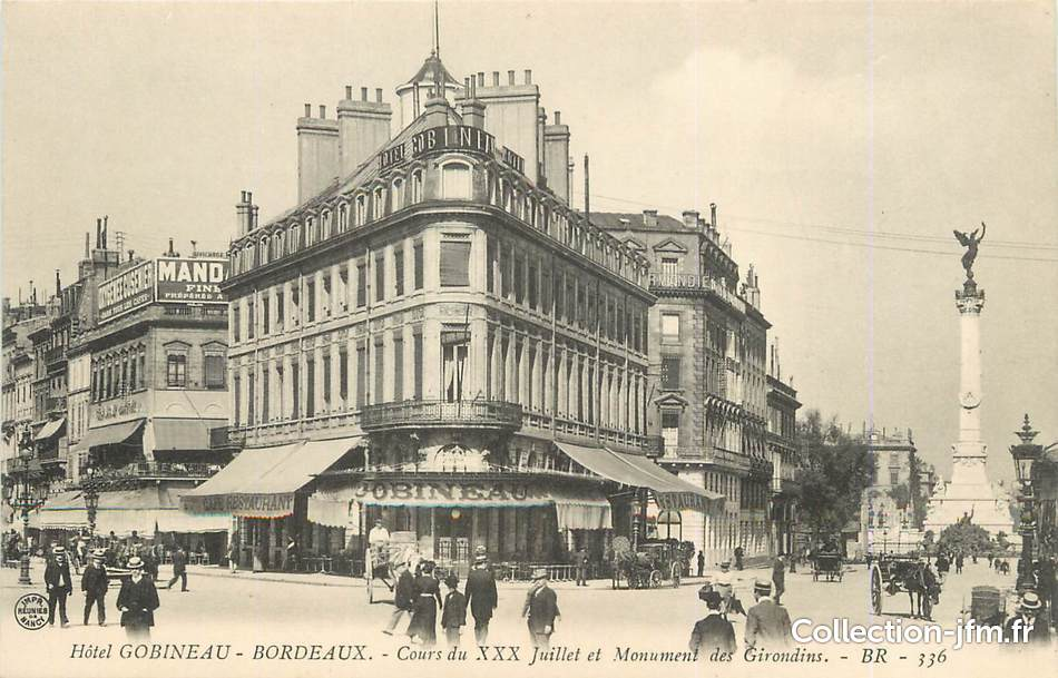 Cpa france 33 bordeaux h tel gobineau 33 gironde for Carte de france hotel