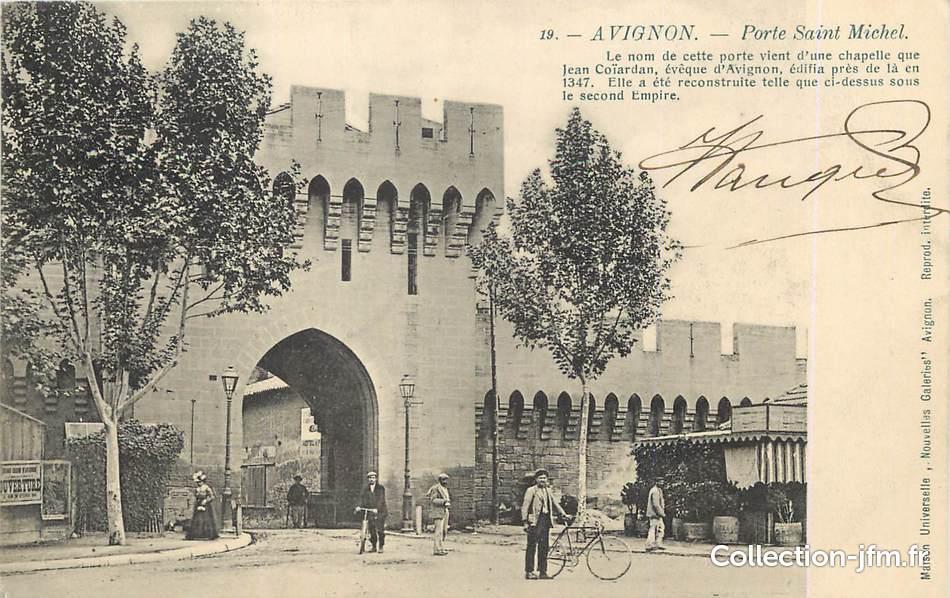 Cpa france 84 avignon porte saint michel 84 vaucluse avignon 84 ref 24280 - Porte saint dominique avignon ...