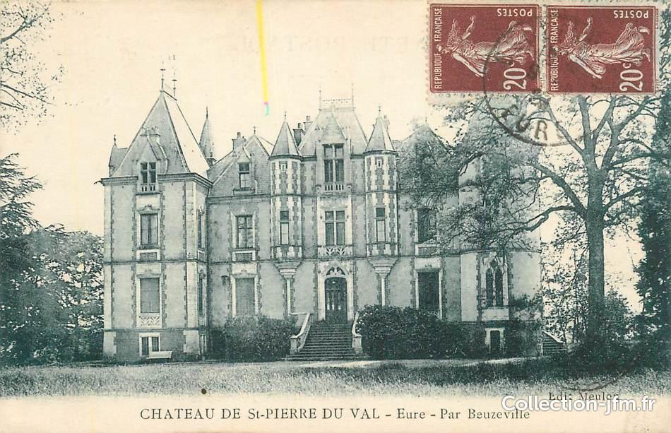 Cpa france 27 chateau de saint pierre du val par - Piscine pont st pierre 27 ...