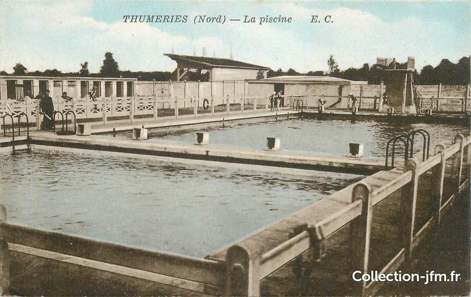 Cpa france 59 thumeries la piscine 59 nord autres for Piscine estaires