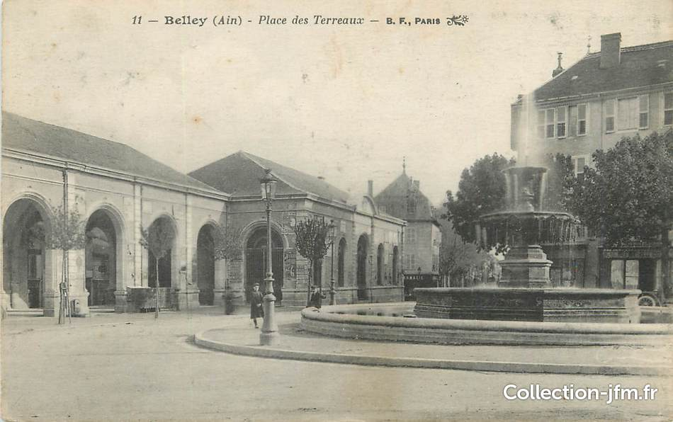 Cpa france 01 belley place des terreaux 01 ain for Plan de belley