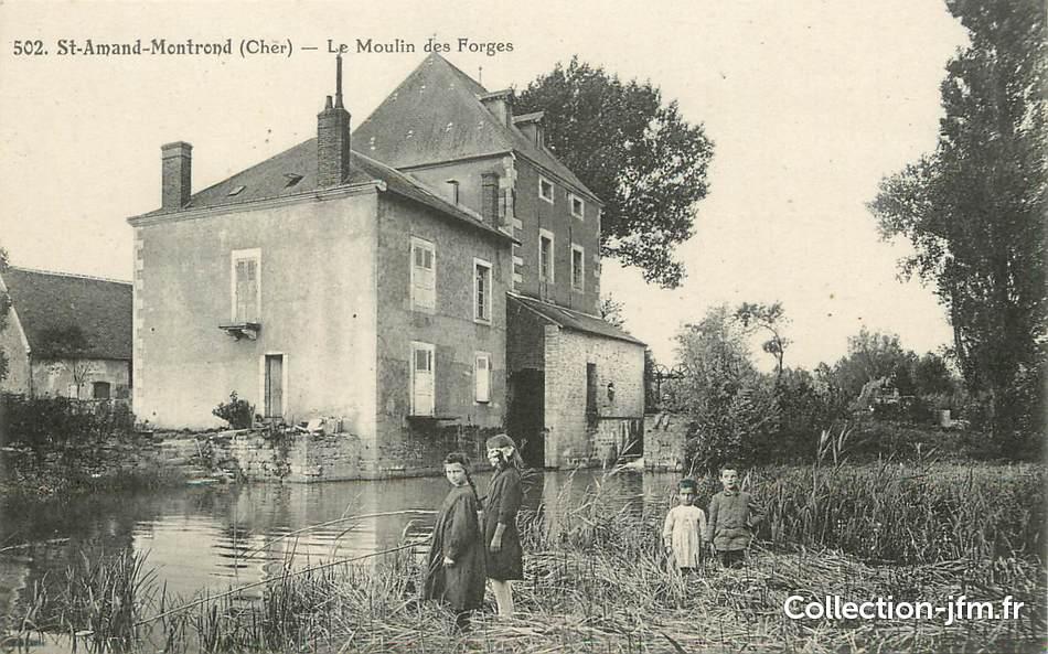 cpa france 18 saint amand montrond moulin 18 cher saint amand montrond 18 ref. Black Bedroom Furniture Sets. Home Design Ideas