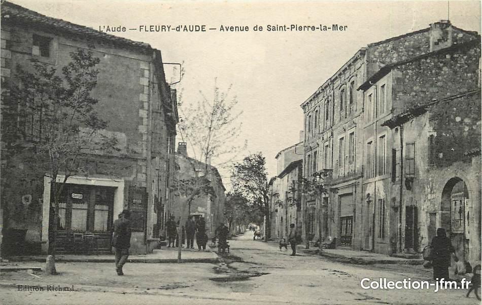 Cpa france 11 fleury d 39 aude avenue de saint pierre la mer 11 aude autres communes 11 - Office du tourisme fleury d aude ...