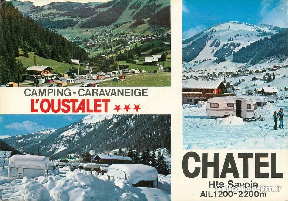 Cpsm france 74 ch tel l 39 oustalet camping 74 haute savoie autres communes 74 ref - Office de tourisme chatel 74 ...