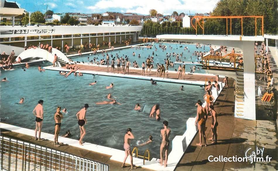 Cpsm france 61 alen on la piscine 61 orne alen on for Alencea piscine alencon