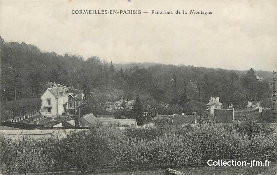 cpa france 95 cormeilles en parisis panorama de la montagne 95 val d 39 oise cormeilles en. Black Bedroom Furniture Sets. Home Design Ideas