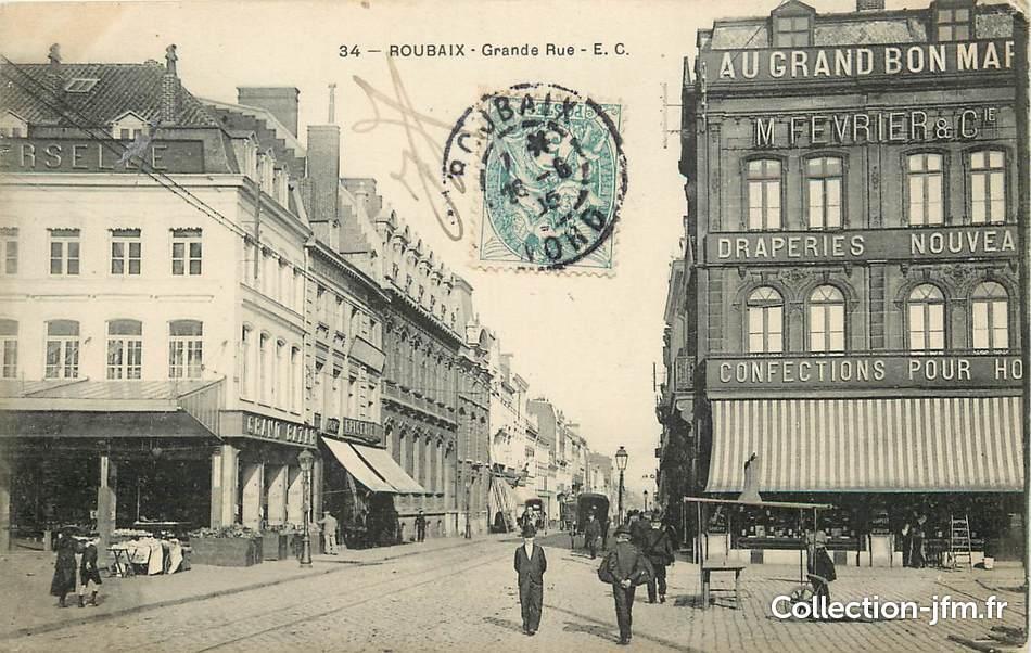 Foyer Grand Rue Roubaix : Cpa france quot roubaix grande rue nord