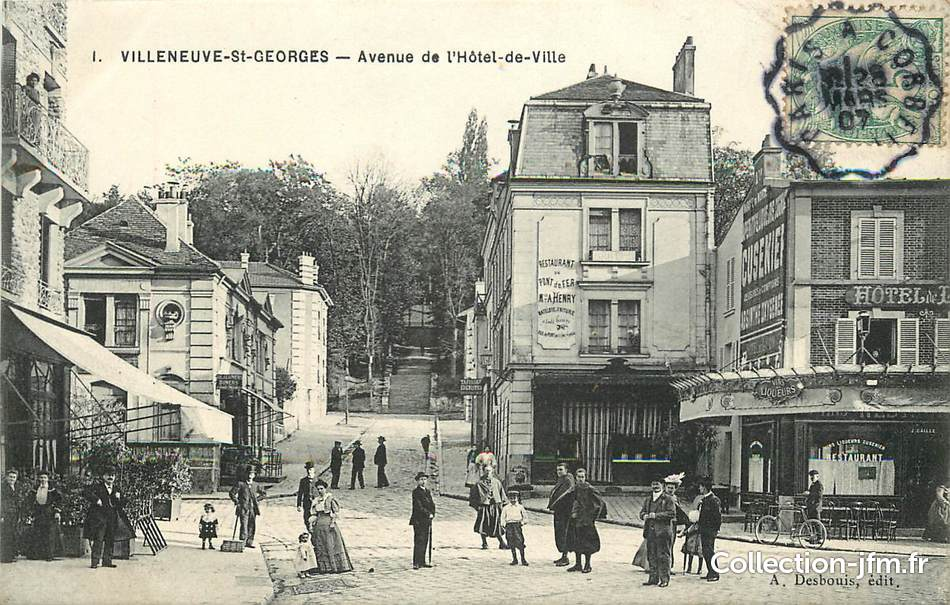 Cpa france 94 villeneuve saint georges avenue de l 39 hotel - Piscine villeneuve saint georges ...